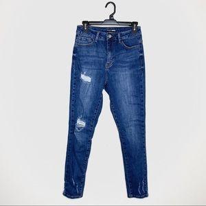 Fashion Nova High Rise Distressed Skinny Jean